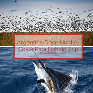 Argentina Dove Hunt or Costa Rica Fishing